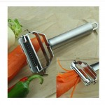 stainless steel julienne serrated vegetable peeler